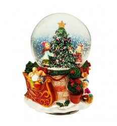 Bola de neve com árvore de Natal