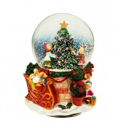 Bola de neve com Pai Natal 2