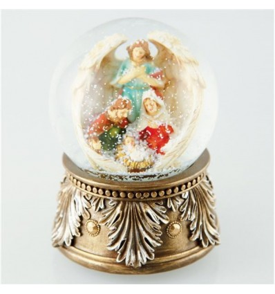 Snow globe Santa with list of wishes