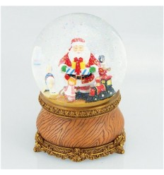 Snow globe with Santa and toys