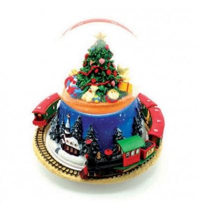 Árvore com comboio - Bola de Neve