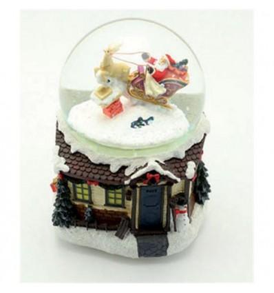Pai natal com trenó - Bola de Neve