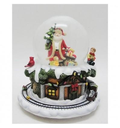 Bola de Neve Pai Natal Comboio
