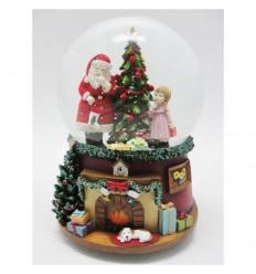 Pai Natal Árvore Lareira - Bola de Neve