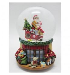 Pai Natal Árvore Lareira Menino - Bola de Neve