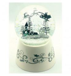 White Snow globe with Santa