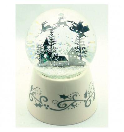 Pai Natal Renas - Bola Neve Branca