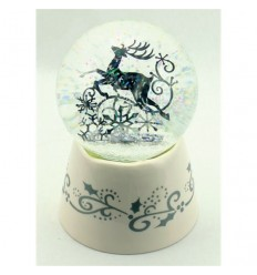 White Snow globe with deer