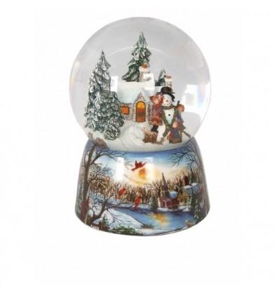 Casa de inverno boneco de neve - bola de neve
