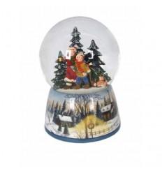 Meninos na floresta - bola de neve