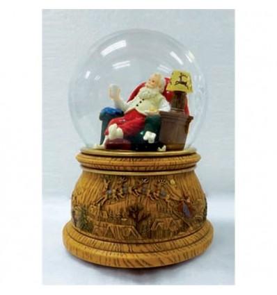 Pai Natal sentado - bola de neve
