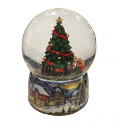 Porcelain snow globe Cristmas tree