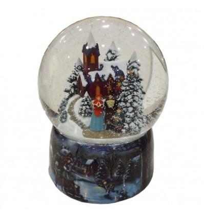 Igreja - bola de neve porcelana