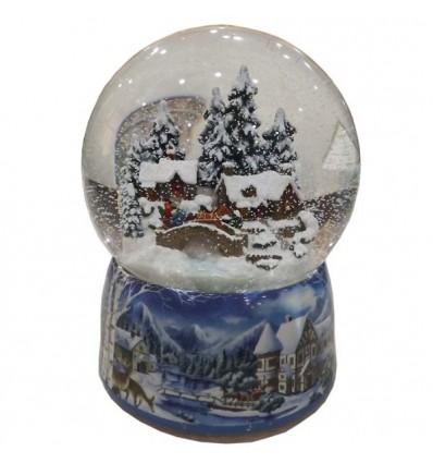 Porcelain snow globe House scene
