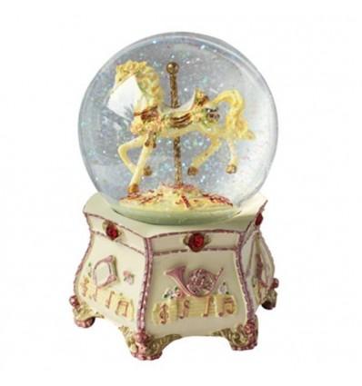 Glitter globe with a horse carousel