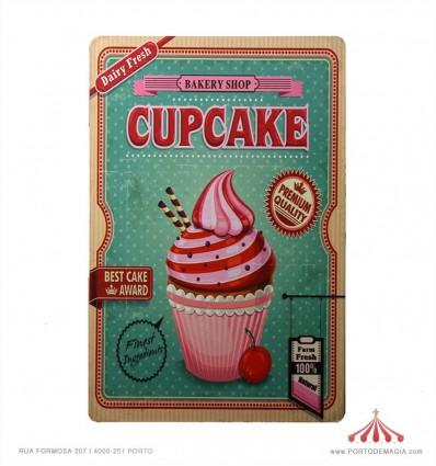 Quadro chapa Premium Quality Cupcake