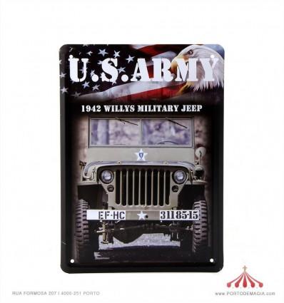 Quadro chapa US Army