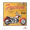 Placa metal vintage moto