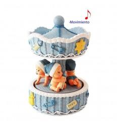 Carrossel bebés azul