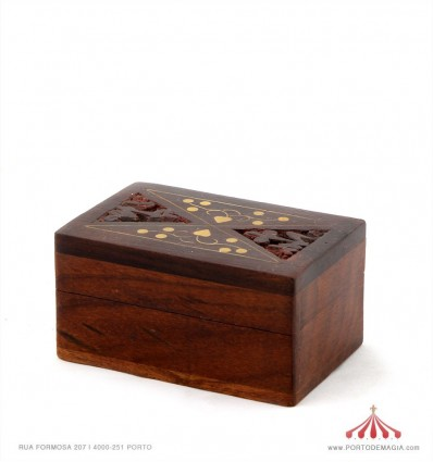 Caixa madeira Índia 7.5x5cm