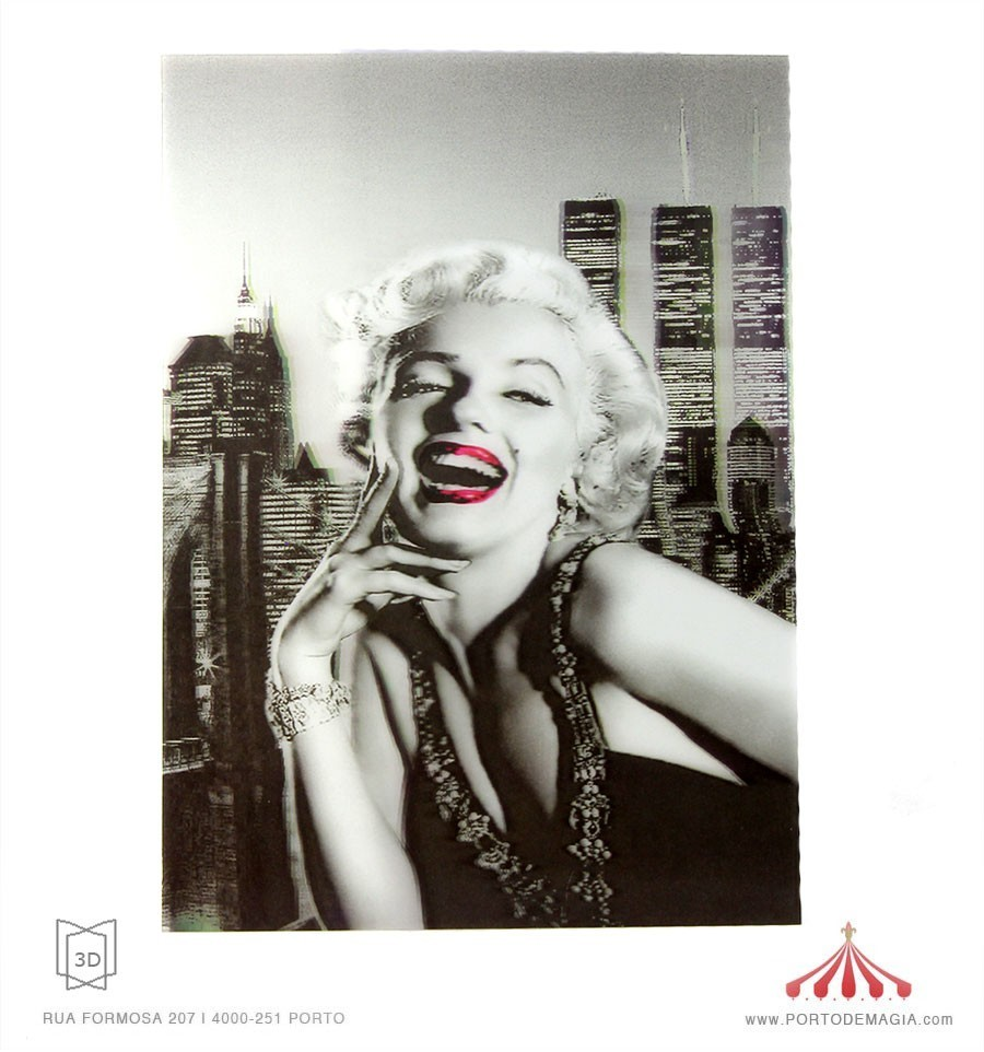 Quadro 3D Marilyn Monroe 1
