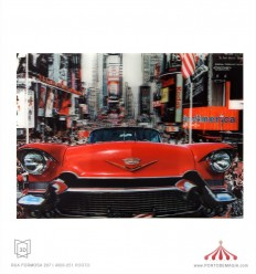 Quadro 3D Cadillac vermelho