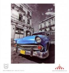 Quadro 3D Cadillac azul 1950
