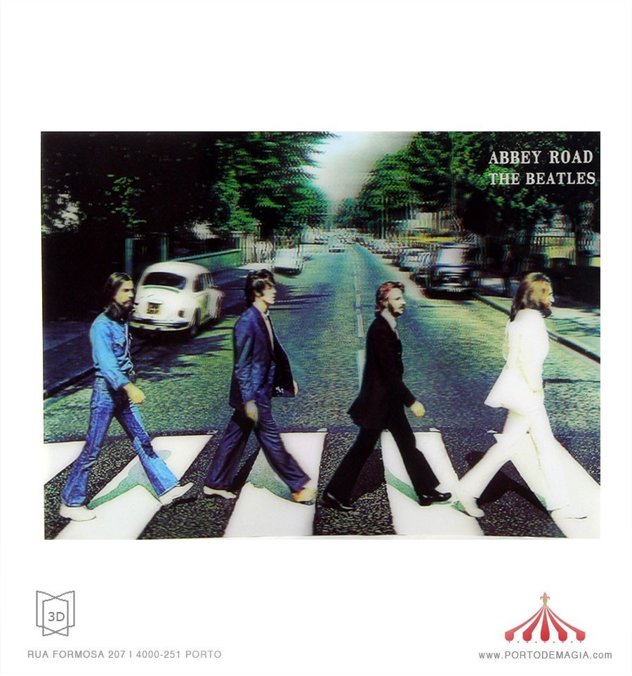 Quadro 3d abbey road the beatles for Beatles tattoo abbey road
