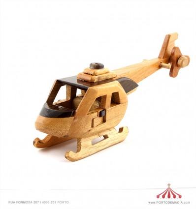 Helicoptero em madeira