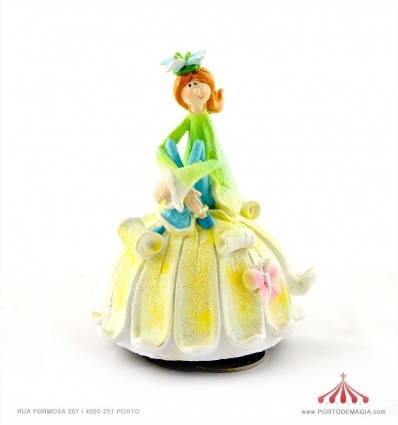 Rapariga flor em Polystone
