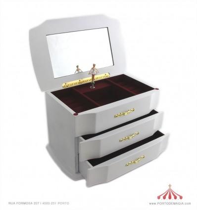 Cômoda para joias bem trabalhada com duas gavetas