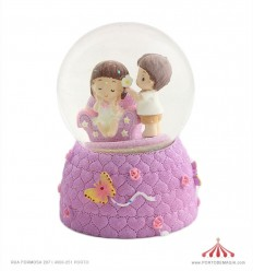 Bola de neve namorados sofá lilás