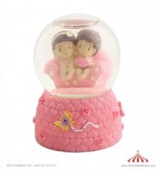 Bola de neve namorados sofá rosa