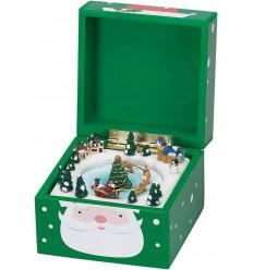 Caixa musical animada verde