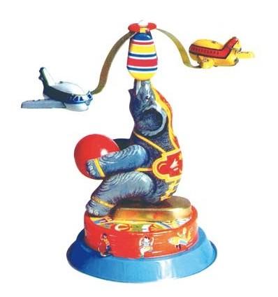 Elefante aviões em chapa