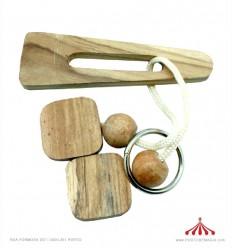 Quebra-cabeças em madeira 12cm