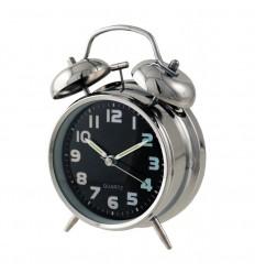 Relógio despertador cromado