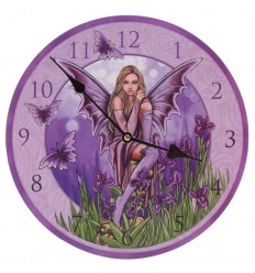 Relógio fada e borboletas