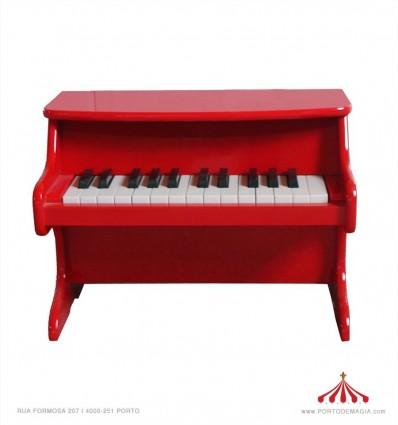 Piano pequeno vermelho