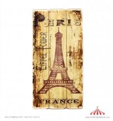 Placa em madeira Paris 30x60x2