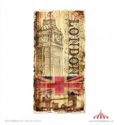 Placa em madeira Londres 30x60x2