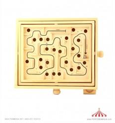 Jogo labirinto madeira