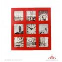 Relógio Parede 9 vermelho