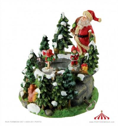 Pai Natal e crianças a dançar