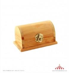 Baú de madeira 13x7cm