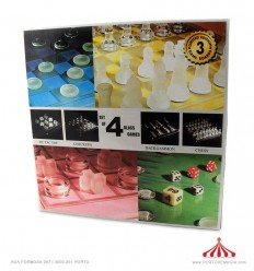 4 Jogos tabuleiro em vidro