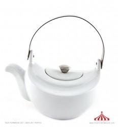 Bule chá porcelana branco