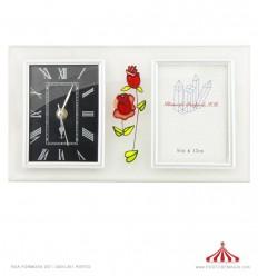 Relógio Fotos Flores 30x17