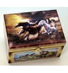 Jewelery box with horses