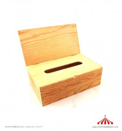 Caixa para lenços em madeira com tampa
